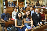 At the wedding those of us from our church sat together toward the front right. They had a translator for us who spoke into a microphone picked up by earpieces they gave us. We really appreciated that.