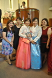 Two of our women wore traditional Korean hanbok to the wedding. Also, two of our youth came and performed a special song, which was very beautiful.