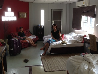 We found our guesthouse on AirBNB. It had sort of an Indian feel to it and we really liked it.