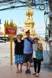 We went to the Chiang Rai city center, where this golden clock tower is the main landmark.